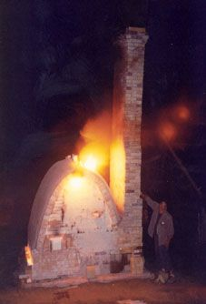 Madera del fuego del horno 16, ser despedido antes de que tuviera un edificio sobre ella.