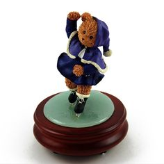Thread Bears - Ice Skater Threadbear Musical Figurine with 18 Note Tune-Could I Have This Dance -- Tried it! Love it! Click the image. : Musical Boxes and Figurines