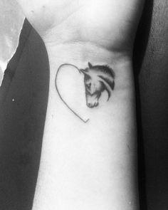 Horse as a heart tattoo - My list of best tattoo models Tattoos Motive, Tattoos Skull, Animal Tattoos, Body Art Tattoos, Print Tattoos, Tatoos, Et Tattoo, Piercing Tattoo, Piercings