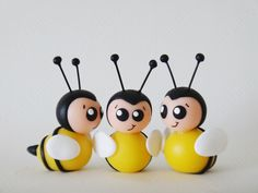 Bumble bees - polymer clay