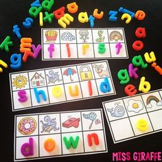 words activities that are so much fun - figure out the initial sound to build each sight word - 335 sight words included!Sight words activities that are so much fun - figure out the initial sound to build each sight word - 335 sight words included! Teaching Sight Words, Sight Word Practice, Sight Word Games, Sight Word Activities, Literacy Activities, Word Work Games, Kindergarten Centers, Kindergarten Reading, Kindergarten Classroom
