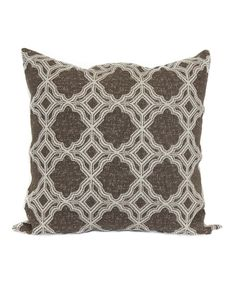 Look what I found on #zulily! Truffle Marcola Throw Pillow by Brentwood Originals #zulilyfinds