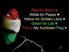 This is mean my kurdistan flag ♡ ♥ ♡