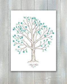 Fingerprint Tree Guestbook PDF by JoyEverAfter on Etsy, $35.00