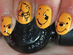 Winnie the Pooh nails..