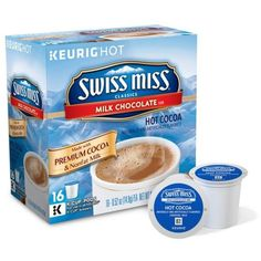 Keurig White Swiss Miss Hot Chocolate K-Cup 16 Count ($13) ❤ liked on Polyvore featuring white