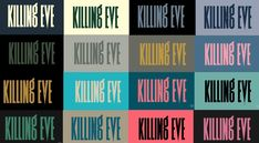 """""""Here are all the title screens from Killing Eve. Logo Google, Location History, Twitter Sign Up, Design Inspiration, Lettering, Logos, Eve, Title Sequence, Product Photography"""