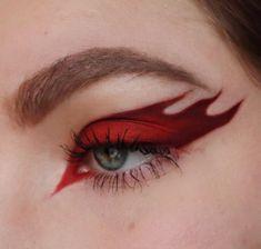 Edgy Makeup, Makeup Eye Looks, Grunge Makeup, Eye Makeup Art, Crazy Makeup, Pretty Makeup, Punk Makeup, Pastell Make-up, Fire Makeup