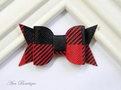 Bow Hair Clip - Baby Hair Bow - Baby Hair Clip - Plaid Bow Clippie - Black Bow Hair Clip- Baby Bow Hair Clip by AvaBowtiquee on Etsy