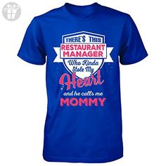 Restaurant Manager Stole My Heart. Mother's Day Gift - Unisex Tshirt Royal 4XL - Birthday shirts (*Amazon Partner-Link)