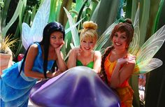 Silvermist, TinkerBell, and Fawn