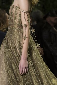 "Christian Dior at Couture Spring 2017 (Details) ""Your body is made of golden stars..."""
