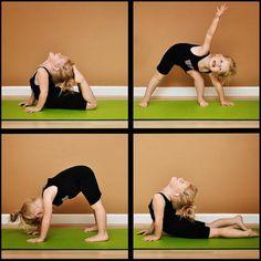 Yay for kids doing yoga! Cute :)
