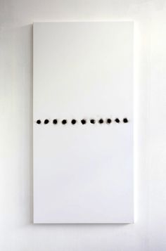 Henk Peeters, black dots, white surface