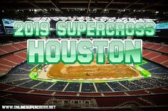 Supercross Houston Live Stream will begin on 30 March 2019 at NRG Stadium, Houston, TX. You can enjoy complete 17 Supercross round live online on your smart dev Monster Energy Supercross, Nrg Stadium, High Jump, Motocross, Houston, Racing, Live, Auto Racing, Lace