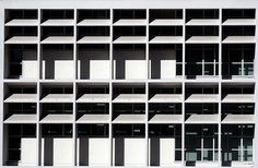 Olivetti offices, Ivrea, Italy (1947) by Italian architects Gino Pollini (1903-1991) and Luigi Figini
