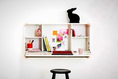 Space Saver: 22 Wall-Mounted Desks to Buy or DIY via Brit + Co
