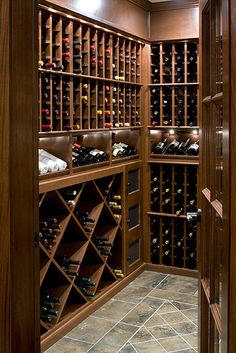Who cares if you don't have enough #wine to fill this, it's just stunning! #winecellar