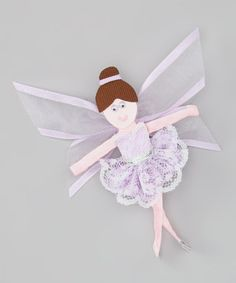 Take a look at this Lavender Fairy Clip by Picture Perfect Hair Bows on #zulily today!
