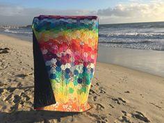 rainbow hexie quilt