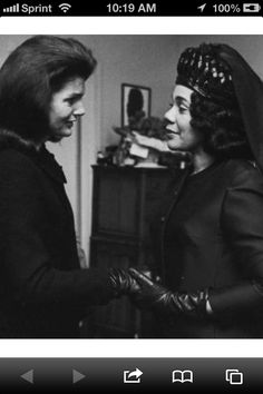 Jackie Onassis Kennedy and Coretta Scott King at the funeral of Martin Luther King Jr. Two widows with young children married to two of the most iconic men of the 60's.