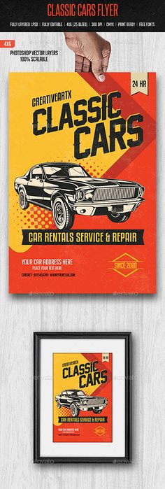 Car Show Flyer Template Flyer template, Cheer and Fonts - car ad template