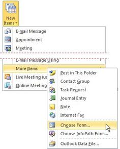 Creating Templates in Outlook 2010