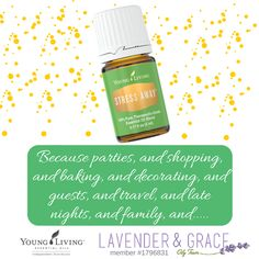 Stress Away, one of my 7 must-have Young Living essential oils for the busy Christmas Season to support your emotional balance. www.lavenderngrace.com