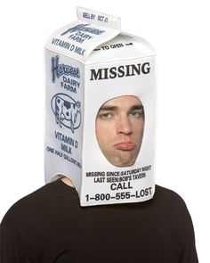 milk carton missing kid costume