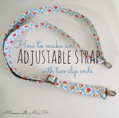 At home with Mrs H: How to make an adjustable purse strap with two clip ends
