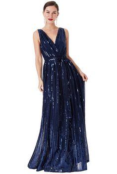 cf14f2a511ee Modré společenské šaty s flitry City Goddess Afrodita