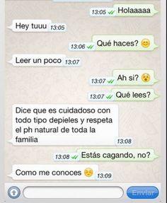Conversación Whatsapp en el baño