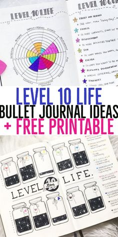 If you haven't made a Level 10 Life tracker in your bullet journal or planner, don't worry – although this bujo spread looks fancy, it's actually very simple to implement. I've created a template you . Bullet Journal Level 10, Bullet Journal Student, Bullet Journal Spread, Bullet Journal Layout, Bullet Journal Inspiration, Journal Ideas, Bullet Journals, Bujo, Passion Planner