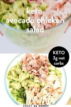 Keto Avocado, Avocado Salat, Keto Chicken Salad, Chicken Recipes, Avocado Chicken Salads, Best Chicken Salad Recipe, Healthy Chicken, Healthy Salad Recipes, Low Carb Recipes