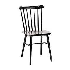 """DINING ROOM:  Tucker Chair, Crafted of solid beechwood and finished in our signature colors. 17.5""""W x 19""""D x 33.5""""H overall; seat is 18""""H. (Item # CH54-01) – Black #serenaandlily - $168"""