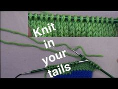 Knitting in Yarn Tails // Technique Tuesday