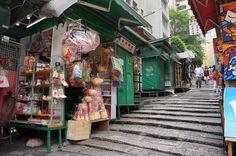 market stalls Hong Kong