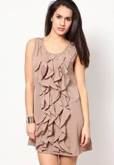 1-beige dresses Fashion Corner, Beige Dresses, Ruffle Blouse, Tops, Women, Beige Suits, Tan Dresses, Woman
