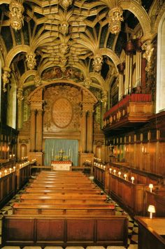 The Royal Chapel ~ Hampton Court Palace, England.