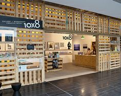 sydney-based studio loopcreative has completed a pop-up studio environment for brand x using salvaged shipping palettes.