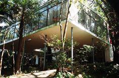 glass house . brazil 1950s