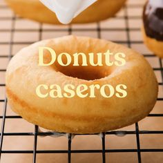 Donut Recipes, Snack Recipes, Cooking Recipes, Snacks, Donut Recipe From Scratch, Tasty Videos, Pan Dulce, Bread Cake, Cake Shop
