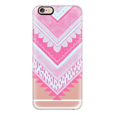 iPhone 6 Plus/6/5/5s/5c Case - PINK Tribal Chevron - Breast Cancer... ($40) ❤ liked on Polyvore featuring accessories, tech accessories, phone cases, phones, iphone case, tech, technology, apple iphone cases, tribal print iphone case and iphone cover case