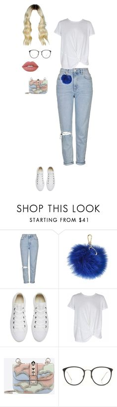 """""""Upper Jersey"""" by daniibanii16 ❤ liked on Polyvore featuring Topshop, Furla, Converse, MINKPINK, Valentino, Linda Farrow and Lime Crime"""