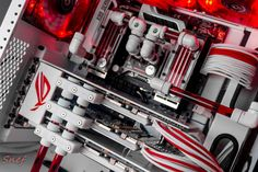 "Gaming Rig from Snef Design codename : "" Blood Angel "" close view on TRI-SLI beasts"