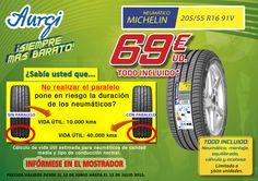 Oferta Neumático Michelin 205/55 R16 91V (Válido del 12 de junio al 12 de julio 2015). AMPLIADO HASTA EL 17 DE JULIO DEL 2015. Más información en www.aurgi.com/