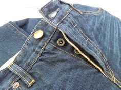 Selvage fly detail, limited edition selvage denim - 7 year vintage wash