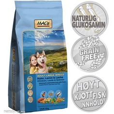 • Mac's Large Breed 12kg Adult Hundefor Fisher, Lamb, Salmon, Lunch Box, Chicken, Meat, Bento Box, Atlantic Salmon, Cubs