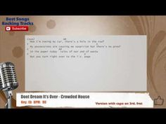 Don't Dream It's Over - Crowded House Vocal Backing Track with chords an...