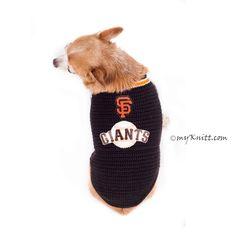 San Francisco Giants Dog Jersey MLB Baseball Pet Costume DK777 by Myknitt